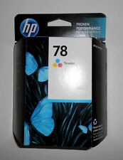 HP 78 TRI-COLOR INK CARTRIDGE NEW FACTORY SEALED BOX 8/2013
