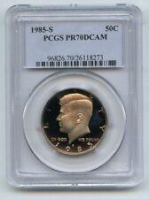 1985-S JFK HALF PCGS PR70 DCAM 50th Anniversary Label ** RARE PERFECT PROOF **