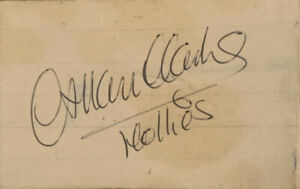ALLAN CLARKE LEAD SINGER AND ORIGINAL MEMBER OF THE HOLLIES A VINTAGE AUTOGRAPH