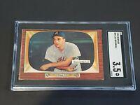 1955 Bowman #89 Lou Boudreau SGC 3.5 New Label Graded