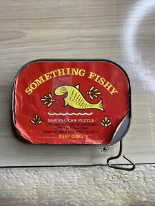 Vintage- Something Fishy- Sardine Can Skill Puzzle Toy With Key