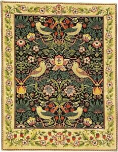 """NEW 36"""" 91CM STRAWBERRY THIEF WILLIAM MORRIS BELGIAN TAPESTRY WALL HANGING 13858"""