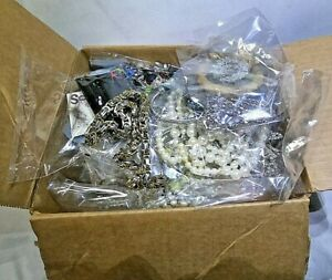 huge Box Lot 20 Pounds Of Costume Jewelry Wear Craft Repair