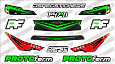 CUSTOM RC BODY HEADLIGHT GRILL STICKER DECAL SET PROTOFORM P47-N 1/10 GREEN