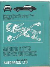 JAGUAR E-TYPE S1 S2 3.8 4.2 COUPE 2+2 ROADSTER 1961 - 1970 OWNER WORKSHOP MANUAL