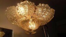 Bellissima plafoniera anni 60 foglie oro - Beautiful ceiling lamp