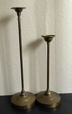 VINTAGE BRASS CHURCH ALTAR CANDLE HOLDERS PAIR