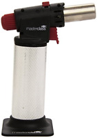 MasterClass KCMCTORCH2 Deluxe Gas Kitchen Blow Torch, Silver/Black/Red