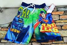 Justice League Boys Licensed Red Swim Pants Board Shorts Youth Size 4