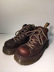 dr martens 1460 Mens Shoes Size Us 8 Bark Decolorized Leather No Slip Sole 8287
