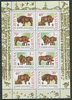 Lithuania 1996 European Bison MNH sheet