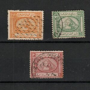 EGYPT 1867 SELECTED STAMPS TO ONE PIASTRE (3)