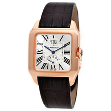 Cartier Santos-Dumont Mechanical Silver Dial Mens Watch W2020067
