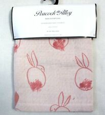 Peacock Alley Stonewashed Bunny Baby Coverlet Blanket Throw Pink