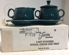 NIB*Fiesteware*Fiesta SUGAR with Lid and CREAMER 4 Piece TRAY SET --17294M S159