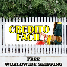 Banner Vinyl Credito Facil Advertising Sign Flag Borrow Money No Credit Support