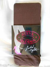 Steve Madden 2 Pares de Medias Opacas Negro Chocolate-Talla M/t BNWT
