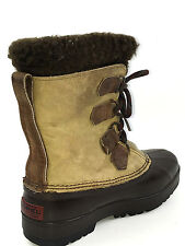 Sorel Alpine Womens Waterproof Rubber/Leather Insulated Duck Boots Brn. SZ 6 Usa