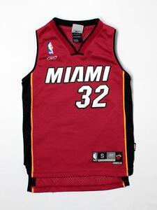 Boy Youth Miami Heat #32 Shaquille O'Neal Basketball Jersey Size 8 Sewn