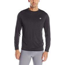 Mens~Champion~Black Performance Vapor T-Shirt~Long Sleeve Tee~Wicking~Sz XL~NWT