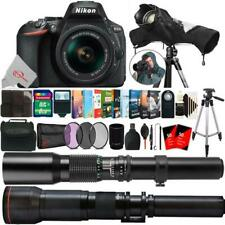 Nikon D5600 24.2MP DSLR Camera + 18-55mm, 500mm & 650-1300mm Bundle