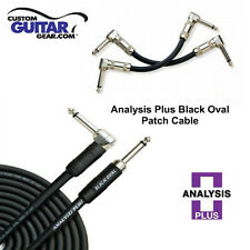 Analysis Plus 4 ft Black Oval Patch Cable w/ Straight / Angle Plugs