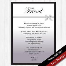 Friends Gift. Personalised Birthday Gift Best Friend. Keepsake Poem PRINT ONLY