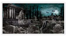 5 pies de cementerio Halloween Decoración Fiesta Banner cementerio escena tumba Cartel