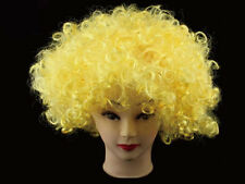 Yellow Halloween Afro Clown Curly Circus Hair Xmas Wigs Fancy Party Accesory