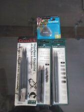 Graphite Crayon Graphite Pencil Soft Medium Hard 6b Lot 10pc Eraser Sharpener
