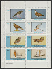 GB Locals - Staffa 3653 - 1982 BIRDS of PREY perf sheetlet of 8  unmounted mint