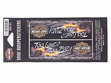 Harley Davidson Ultra Mini 'Too Loud, Too Bad' Bumper Stickers Genuine New BS141
