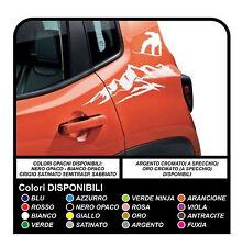 Adesivi Stickers per Jeep Renegade montagna snowboard sportello posteriore