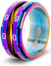 Clicking Life Counter Dice Ring - Size 11 Rainbow CritSuccess GAMING SUPPLY NEW