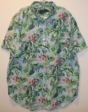 Polo Ralph Lauren Big and Tall Mens Tropical S/S Button-Front Shirt NWT 2XLT