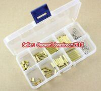120x M2 Brass Spacer Standoffs / Screws / Nuts Assortment Assorted Kit Lot CCTV