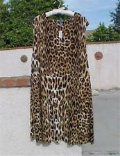 "NEW NWT $160 RALPH LAUREN 3X BRN LEOPARD 56"" BUST LONG DRESS POLY SPANDEX SLINKY"