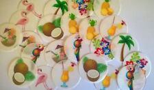 Pre Tagliato Tropicale Estate Festa Cupcake Decorazioni per Torta cialda di carta X 24