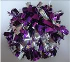 High quality Basketball School Halloween Cheerleader 2PomPoms Purple mix Silver