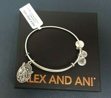 Authentic Alex and Ani Archangel Michael Rafaelian Silver Charm Bangle