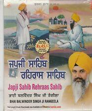Japji Sahib rehraas sahib By Bhai balwinder singh Ji Rangeela  [Cd]