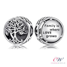 Family Tree Charm Genuine 925 Sterling Silver 💞 Gift