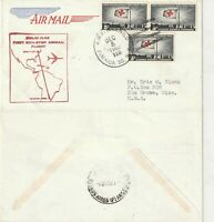 US 1963 PAN AM JET FIRST FLIGHT FLOWN AIR MAIL COVER NEW YORK TO BUENOS AIRES
