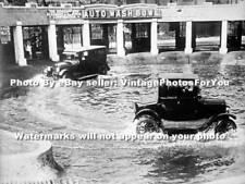 1924 Chicago, IL Car Wash Antique Model T Ford/Automobiles Depression Era Photo