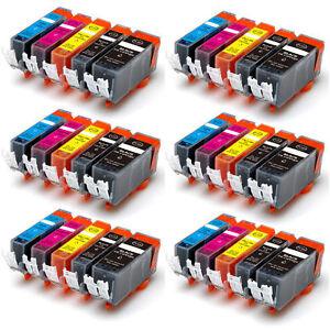 30 PK Printer Ink Cartridge for Canon PGI-250 CLI-251 Pixma MG5522 MG5520 MG5620