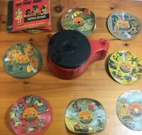 Toy Playola Phonograph Record Player 1948 w/ 11 Records Vintage Repairs/parts