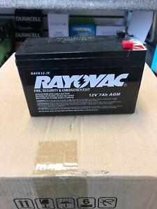 """Rayovac RAYA12-7F / Duracell DURA12-7F Sealed Lead Acid Battery12V 7Ah 3/16"""" AGM"""