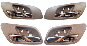 Interior Inside Door Handle Brown Chrome Lever Front Rear Left Right Set of 4