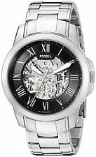 Fossil Men's ME3103 Grant Black Dial Skeleton Automatic Stainless Steel Watch