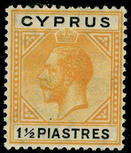 CYPRUS SG91, 1½pi yellow & black, M MINT. Cat £13.